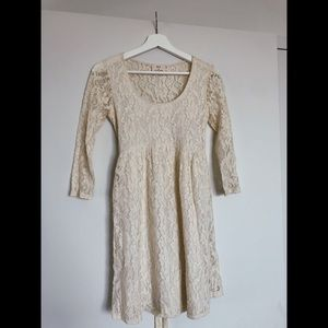 pins and needles, lace dress